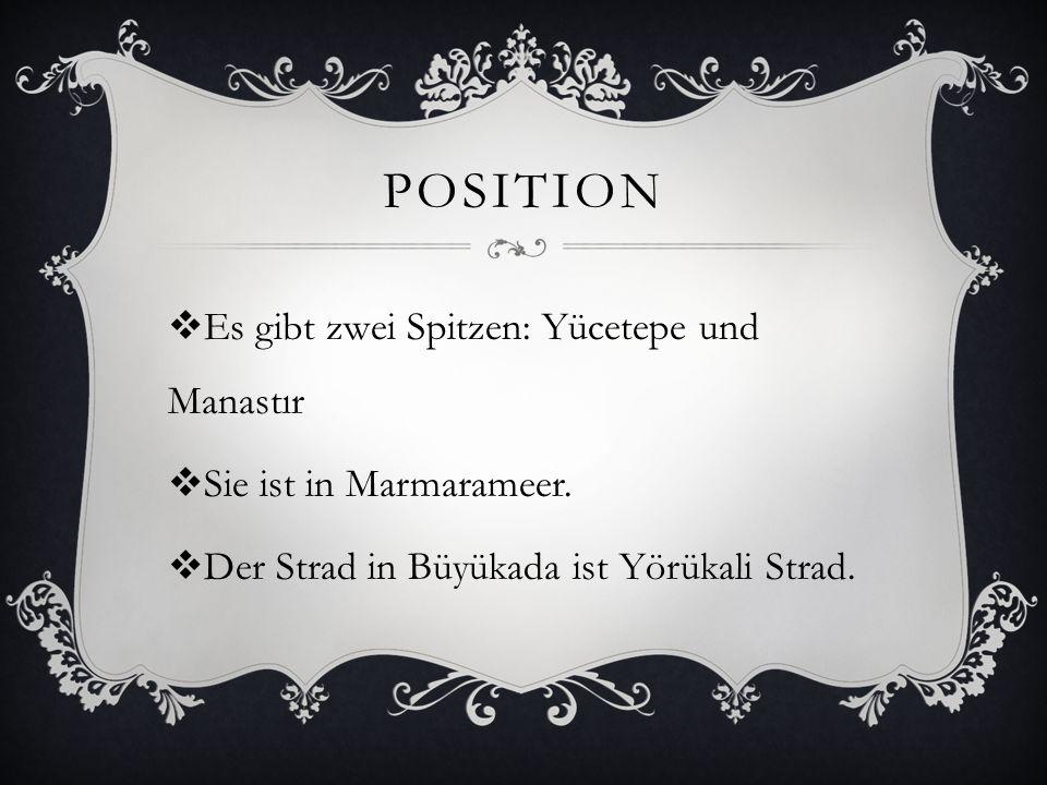 position Es gibt zwei Spitzen: Yücetepe und Manastır