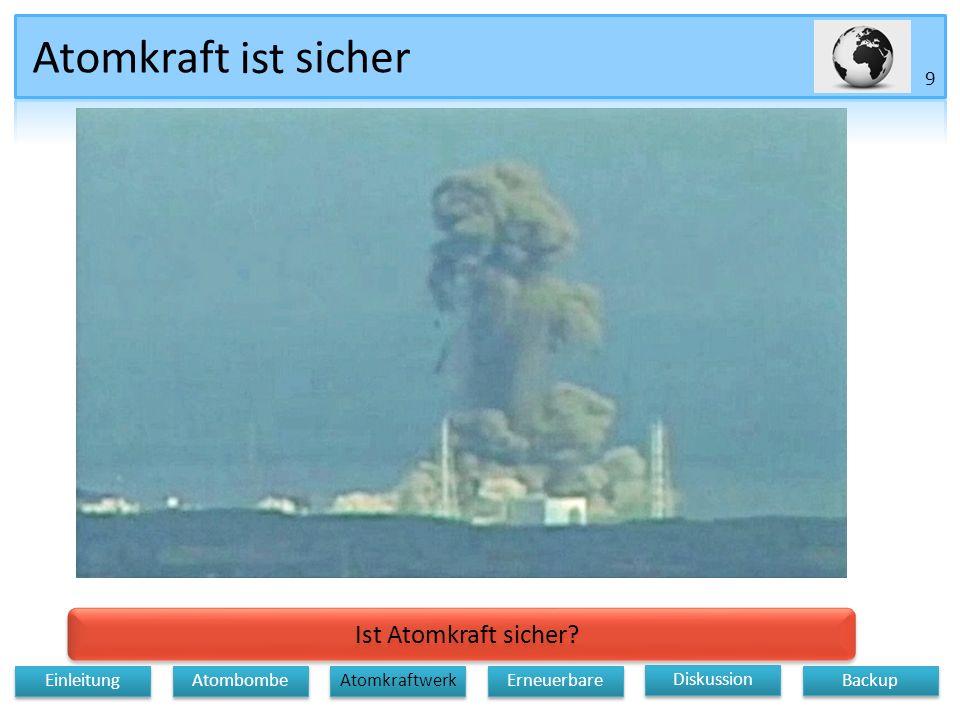 Atomkraft ist sicher Ist Atomkraft sicher 9 Einleitung Atombombe