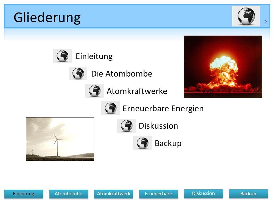 Gliederung Einleitung Die Atombombe Atomkraftwerke