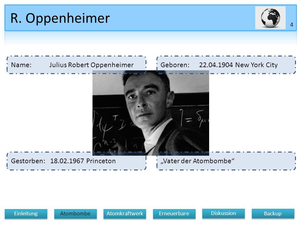 R. Oppenheimer Name: Julius Robert Oppenheimer