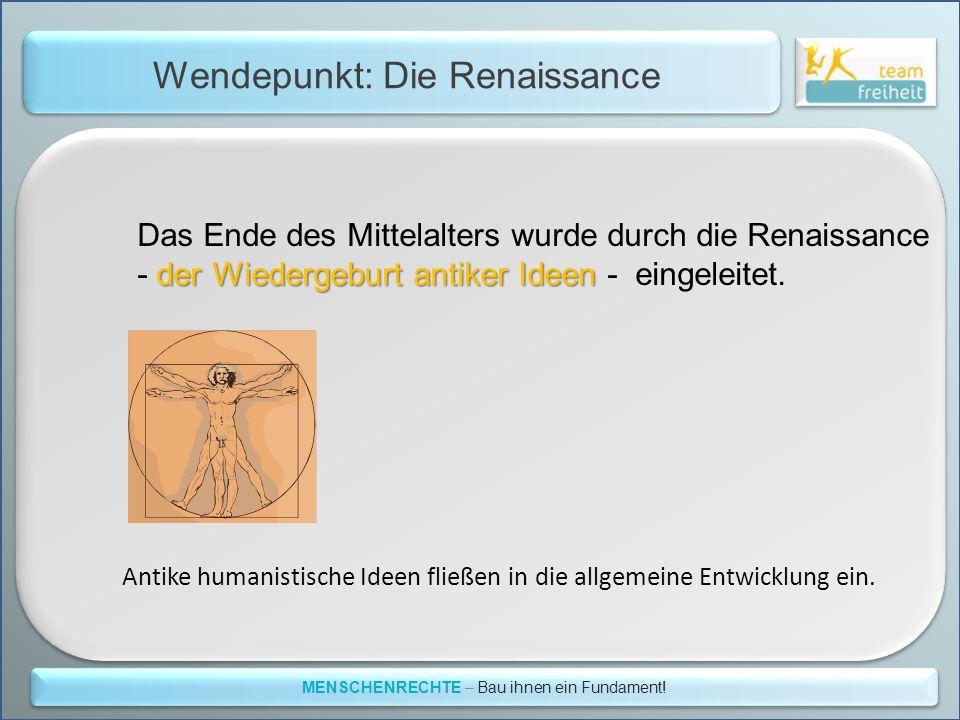 Wendepunkt: Die Renaissance