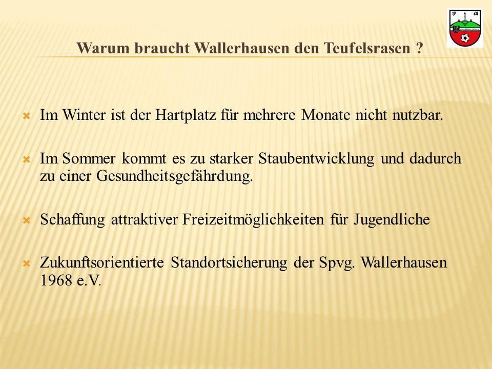 Warum braucht Wallerhausen den Teufelsrasen