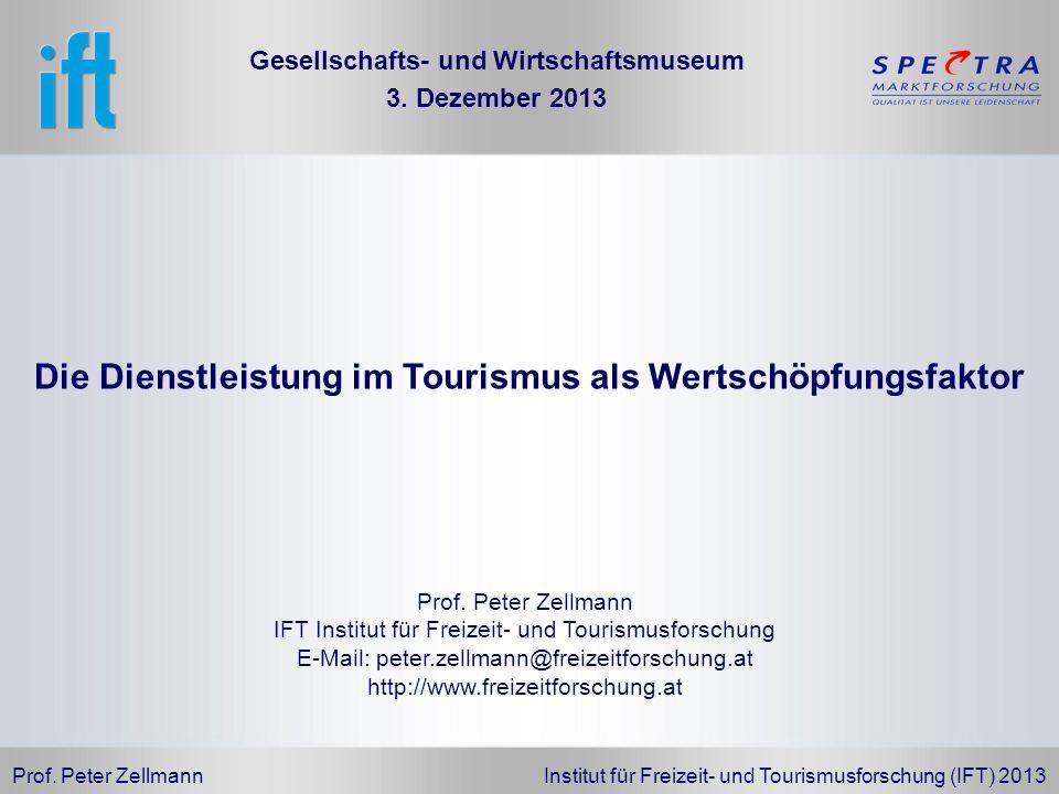 Die Dienstleistung im Tourismus als Wertschöpfungsfaktor