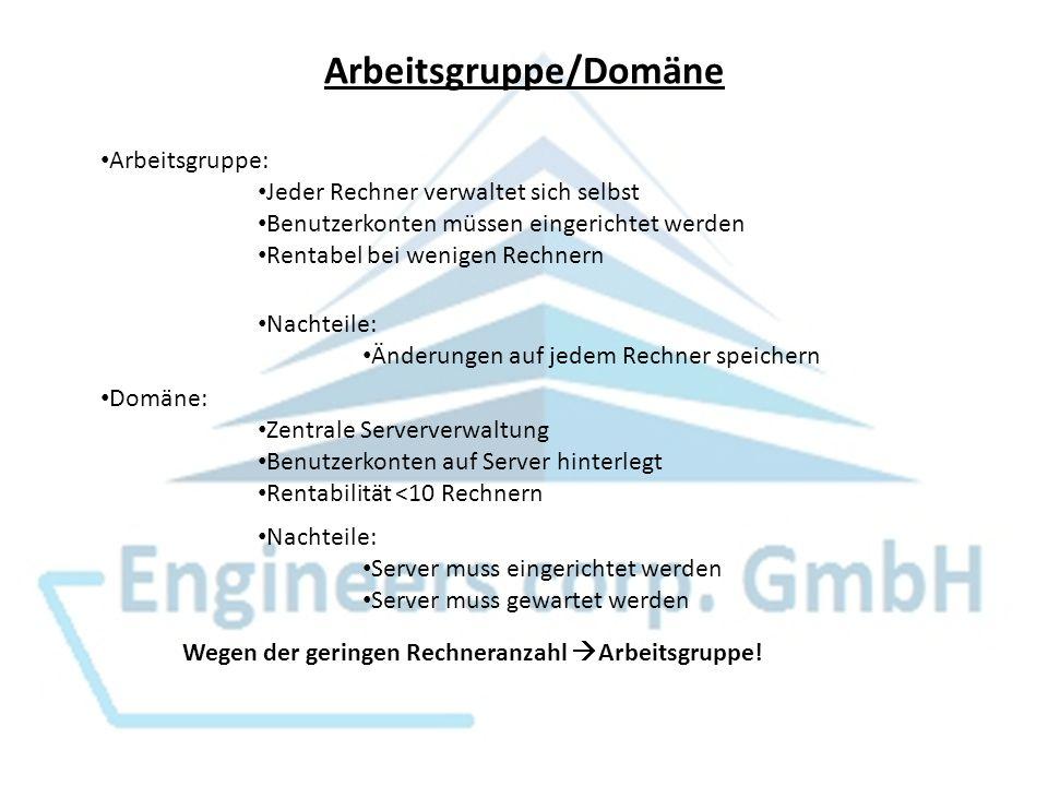 Arbeitsgruppe/Domäne