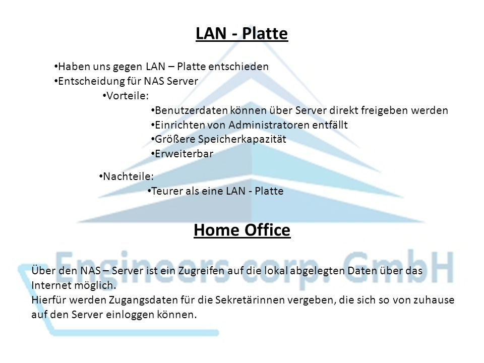 LAN - Platte Home Office