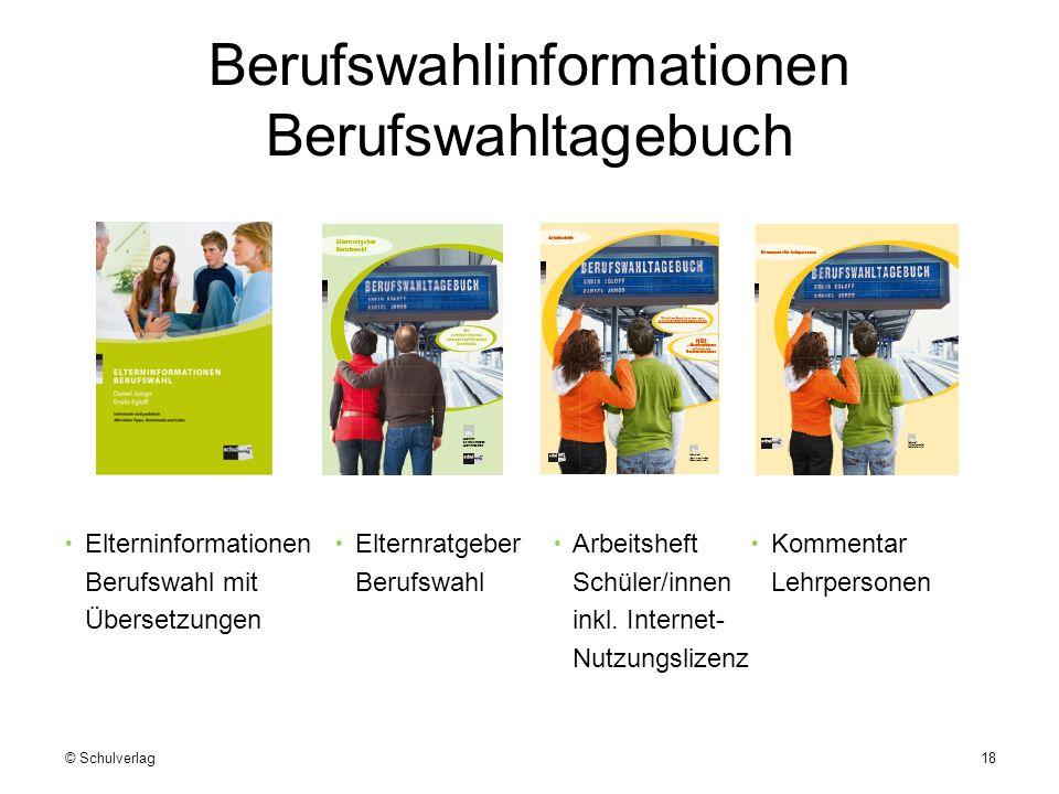 Berufswahlinformationen Berufswahltagebuch