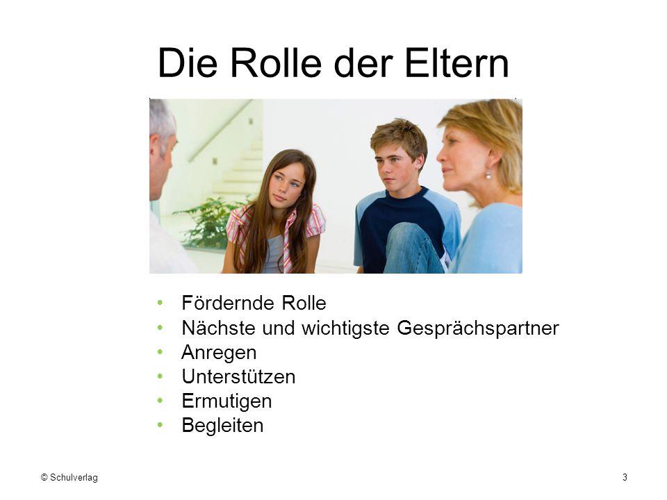 Die Rolle der Eltern Fördernde Rolle