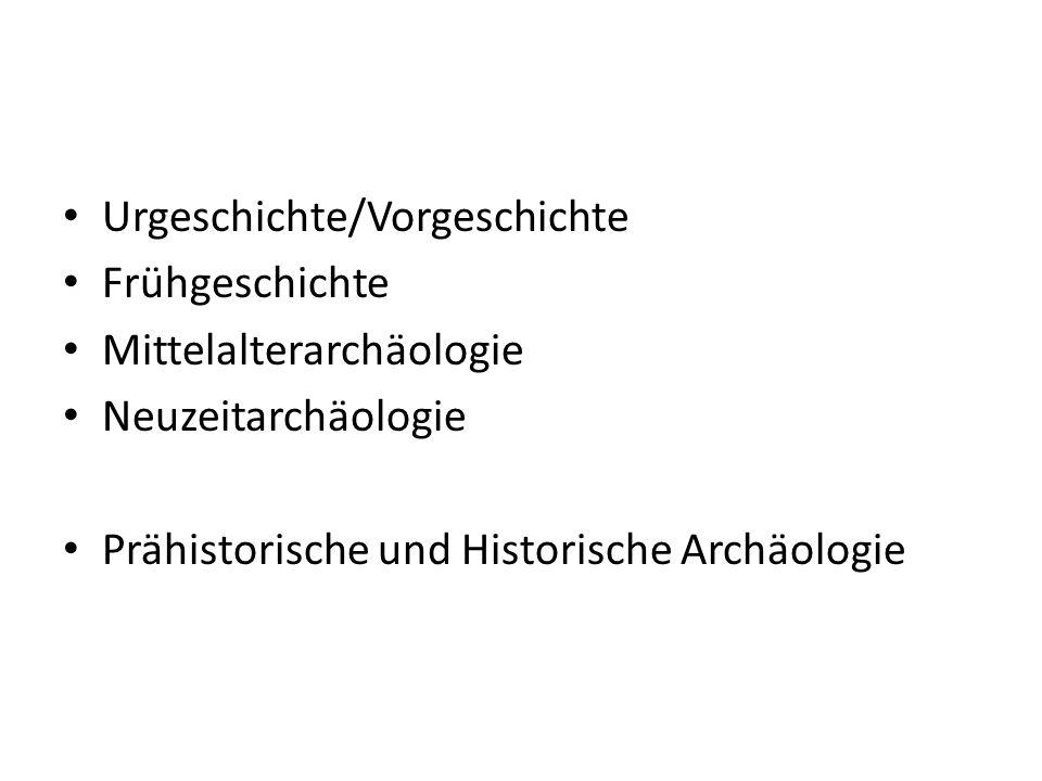 Urgeschichte/Vorgeschichte