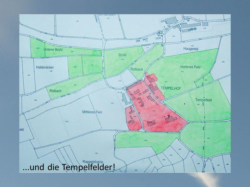 ...und die Tempelfelder!