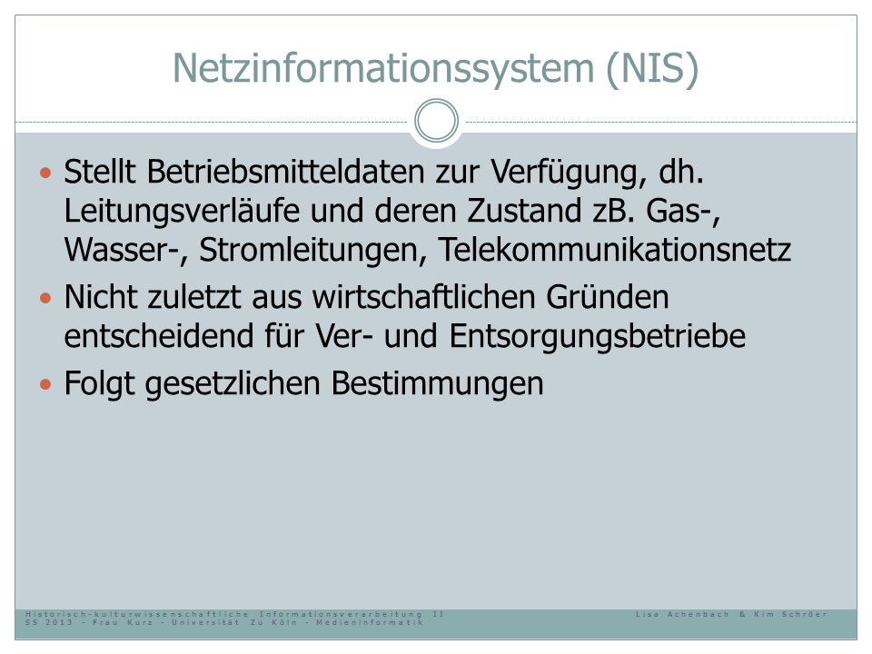 Netzinformationssystem (NIS)