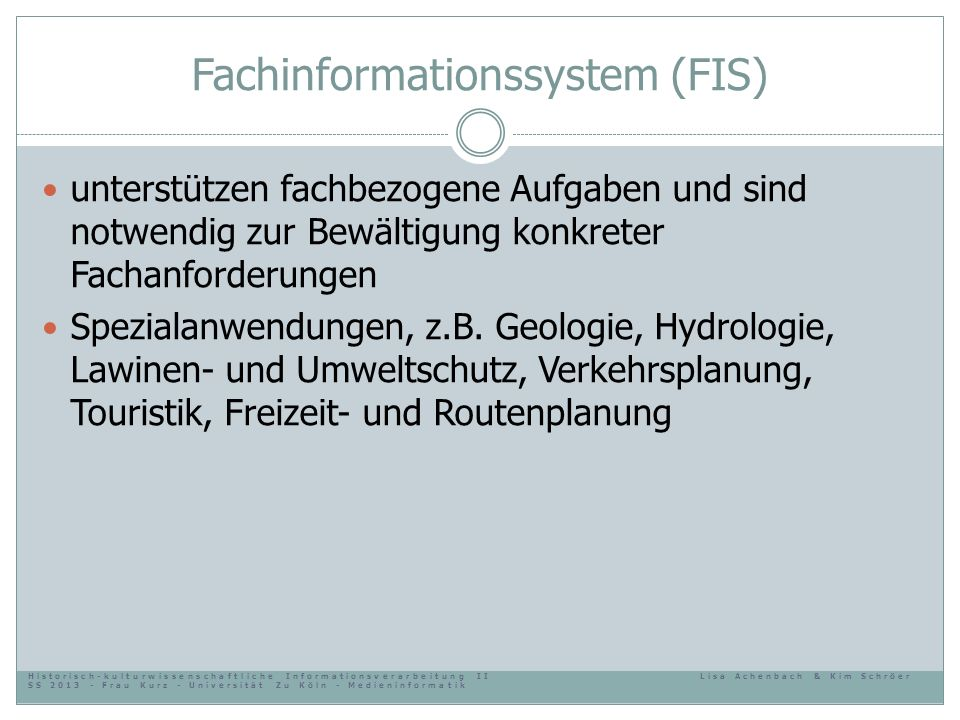 Fachinformationssystem (FIS)