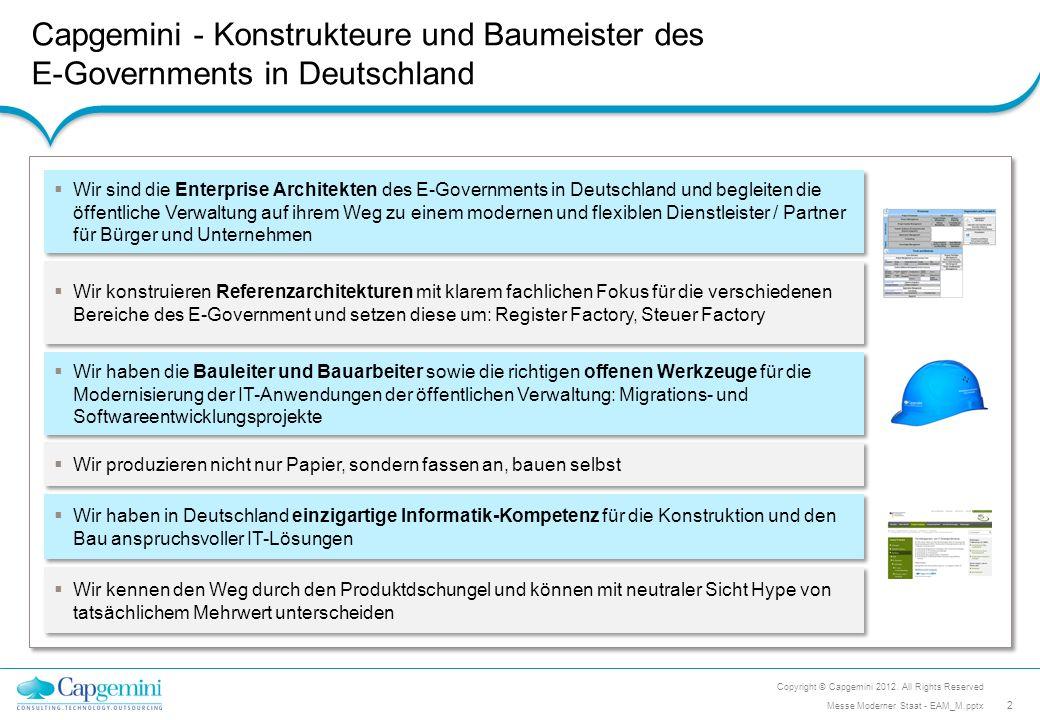 Capgemini - Konstrukteure und Baumeister des E-Governments in Deutschland