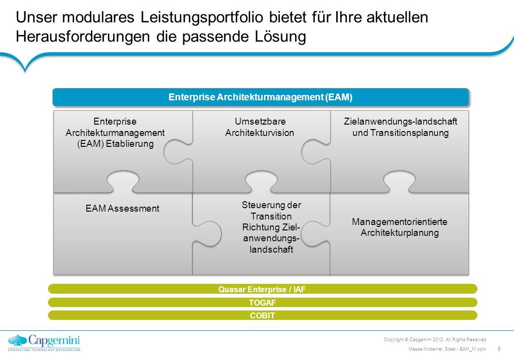 Enterprise Architekturmanagement (EAM) Quasar Enterprise / IAF