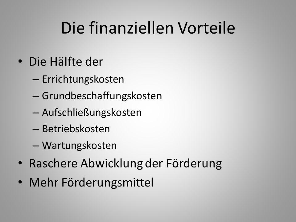 Die finanziellen Vorteile
