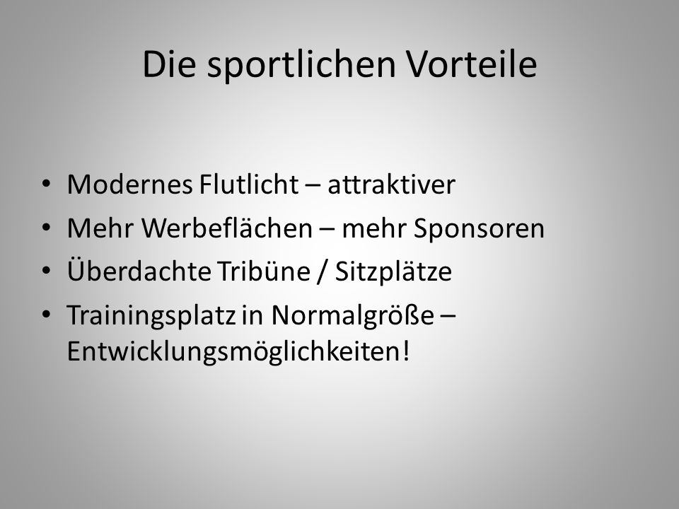 Die sportlichen Vorteile