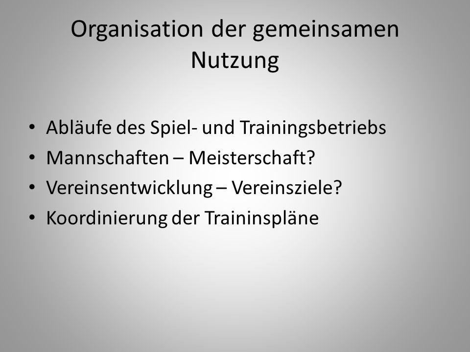 Organisation der gemeinsamen Nutzung