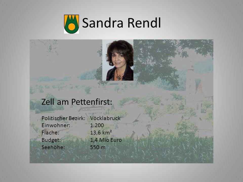 Sandra Rendl Zell am Pettenfirst: Politischer Bezirk: Vöcklabruck