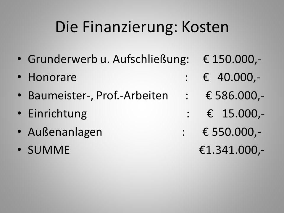Die Finanzierung: Kosten