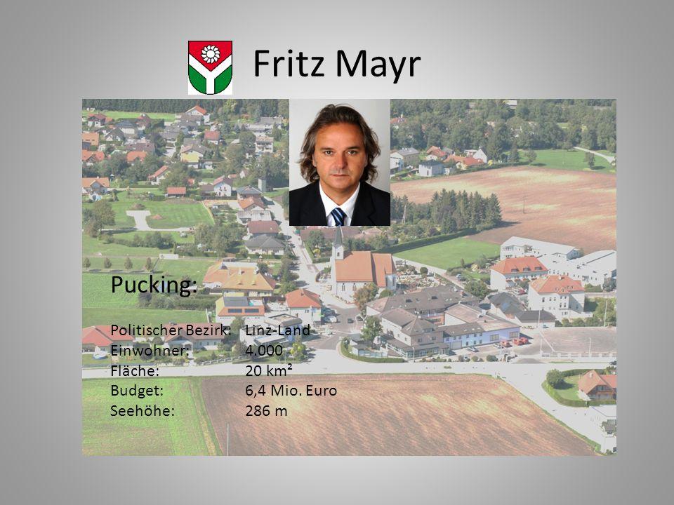 Fritz Mayr Pucking: Politischer Bezirk: Linz-Land Einwohner: 4.000