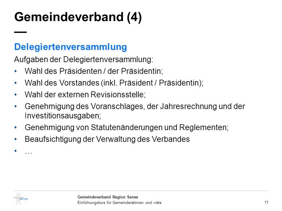 Gemeindeverband (4) — Delegiertenversammlung
