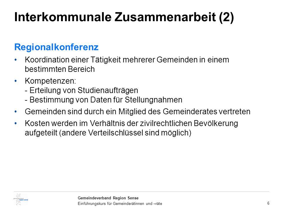 Interkommunale Zusammenarbeit (2)