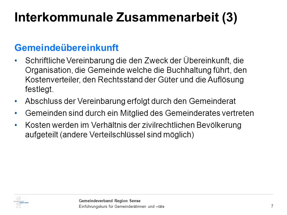 Interkommunale Zusammenarbeit (3)