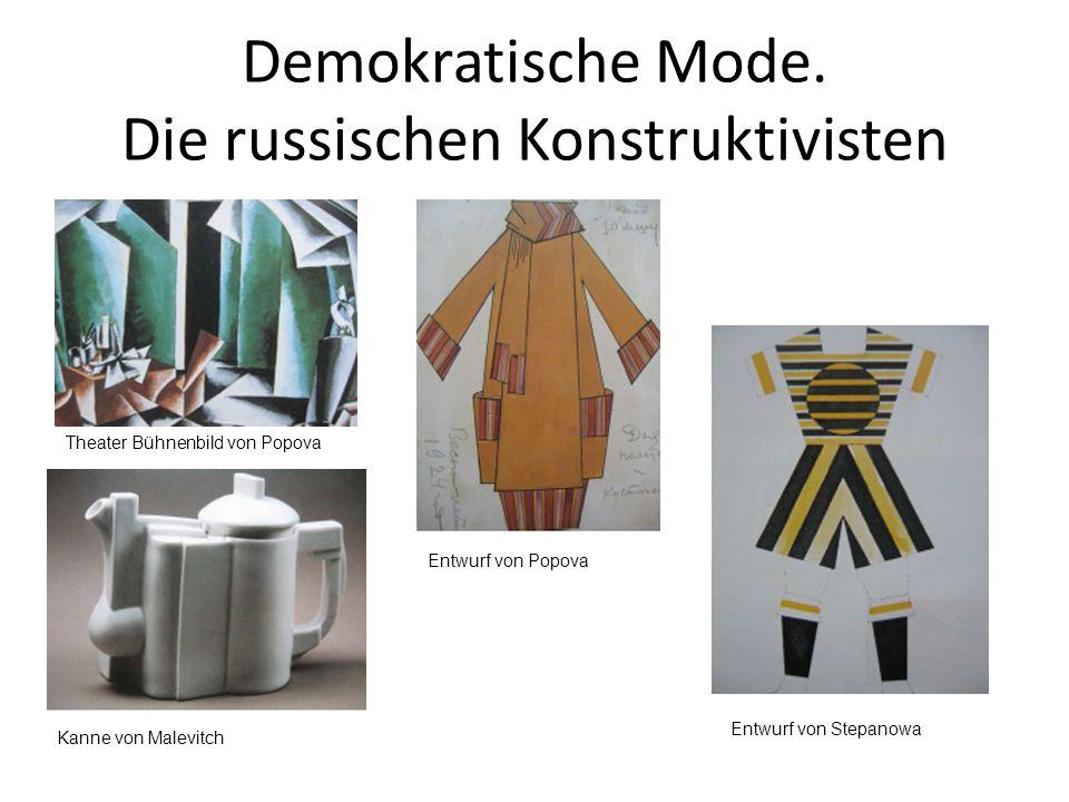 Demokratische Mode. Die russischen Konstruktivisten