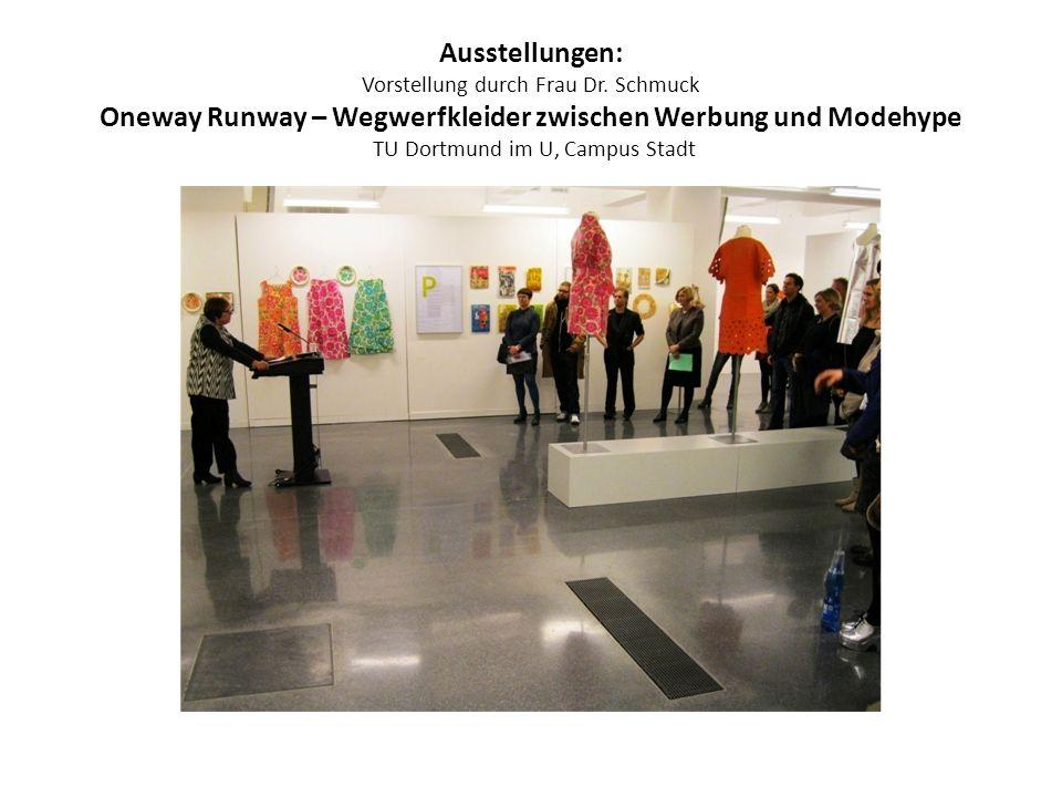 Ausstellungen: Vorstellung durch Frau Dr