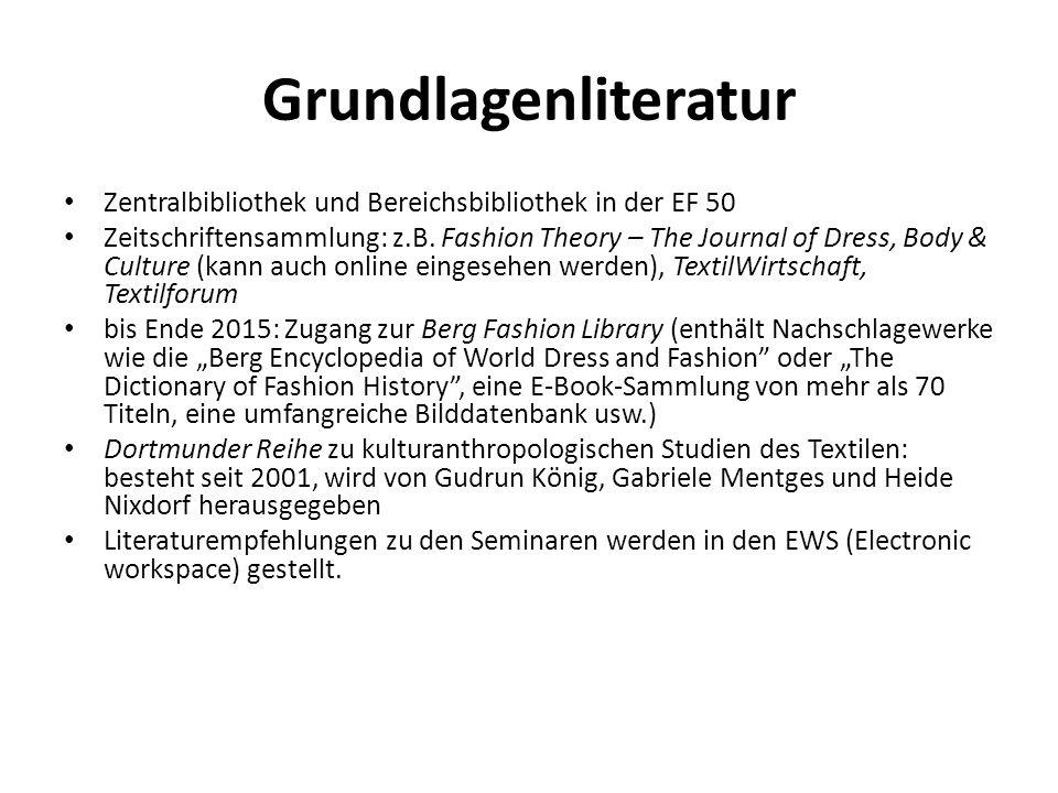 Grundlagenliteratur Zentralbibliothek und Bereichsbibliothek in der EF 50.