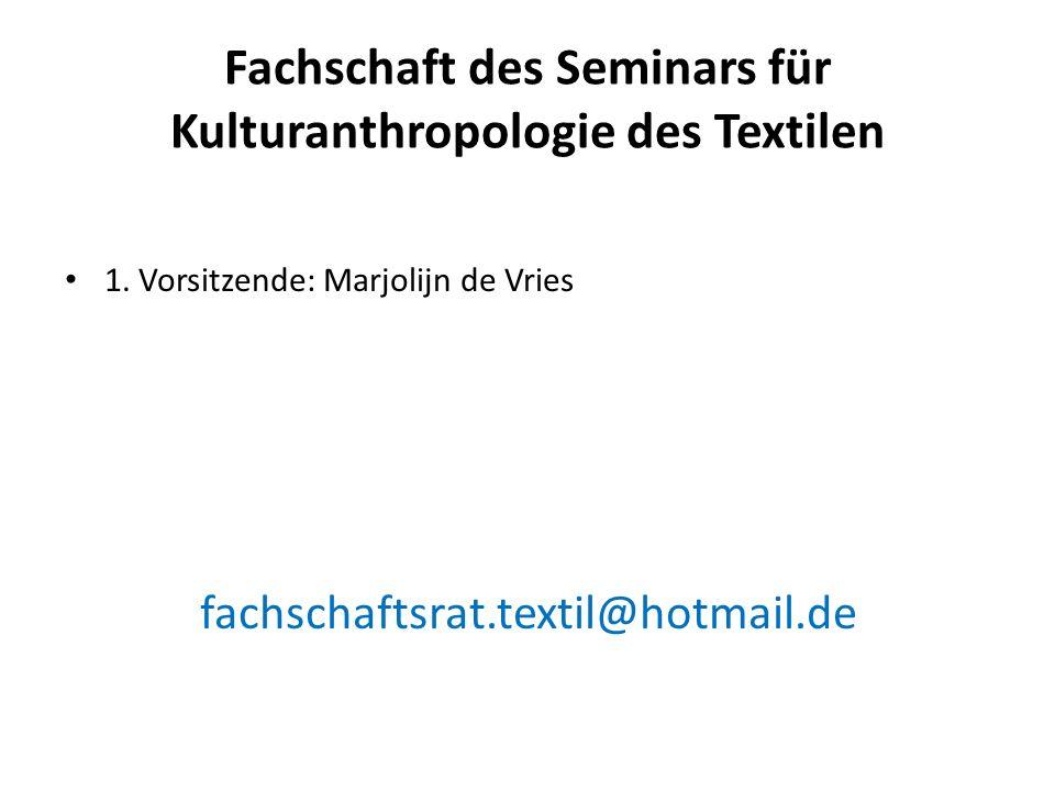 Fachschaft des Seminars für Kulturanthropologie des Textilen