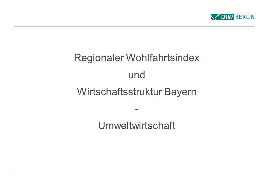 Regionaler Wohlfahrtsindex und Wirtschaftsstruktur Bayern - Umweltwirtschaft