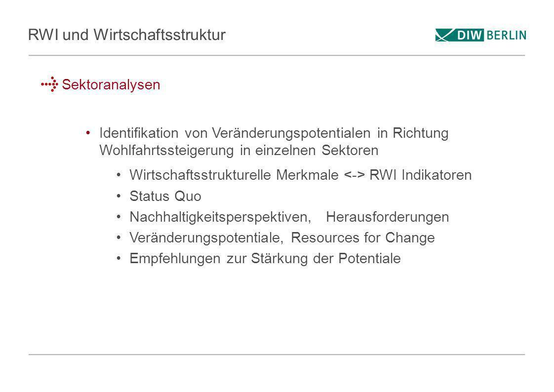 RWI und Wirtschaftsstruktur
