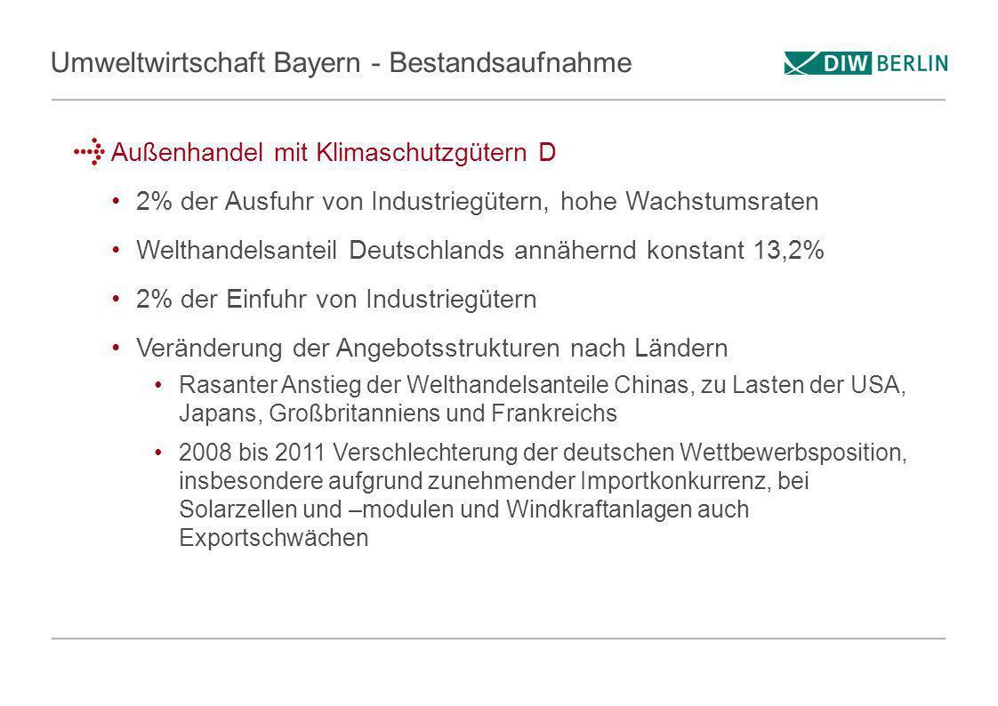 Umweltwirtschaft Bayern - Bestandsaufnahme