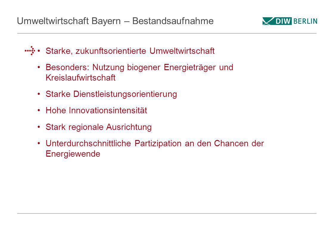 Umweltwirtschaft Bayern – Bestandsaufnahme