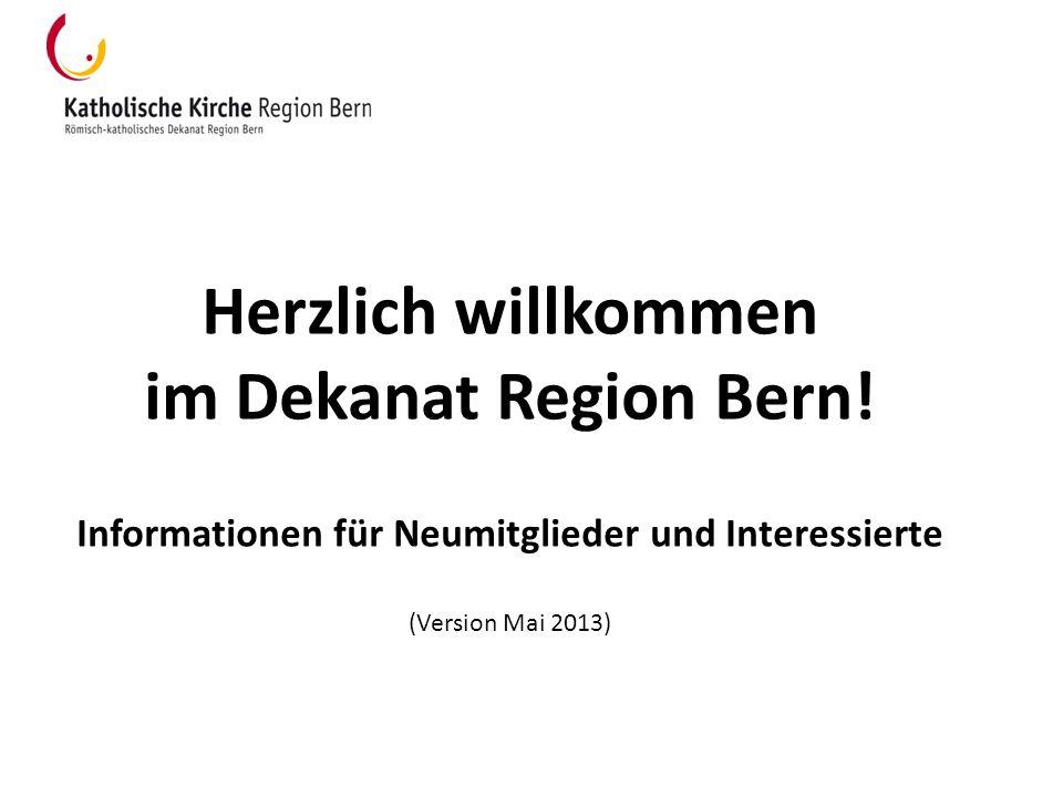 Herzlich willkommen im Dekanat Region Bern