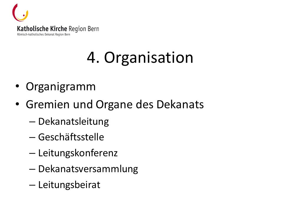 4. Organisation Organigramm Gremien und Organe des Dekanats