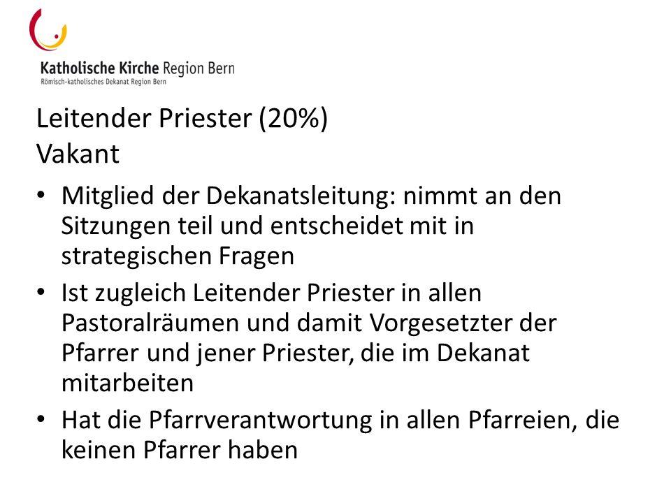 Leitender Priester (20%) Vakant