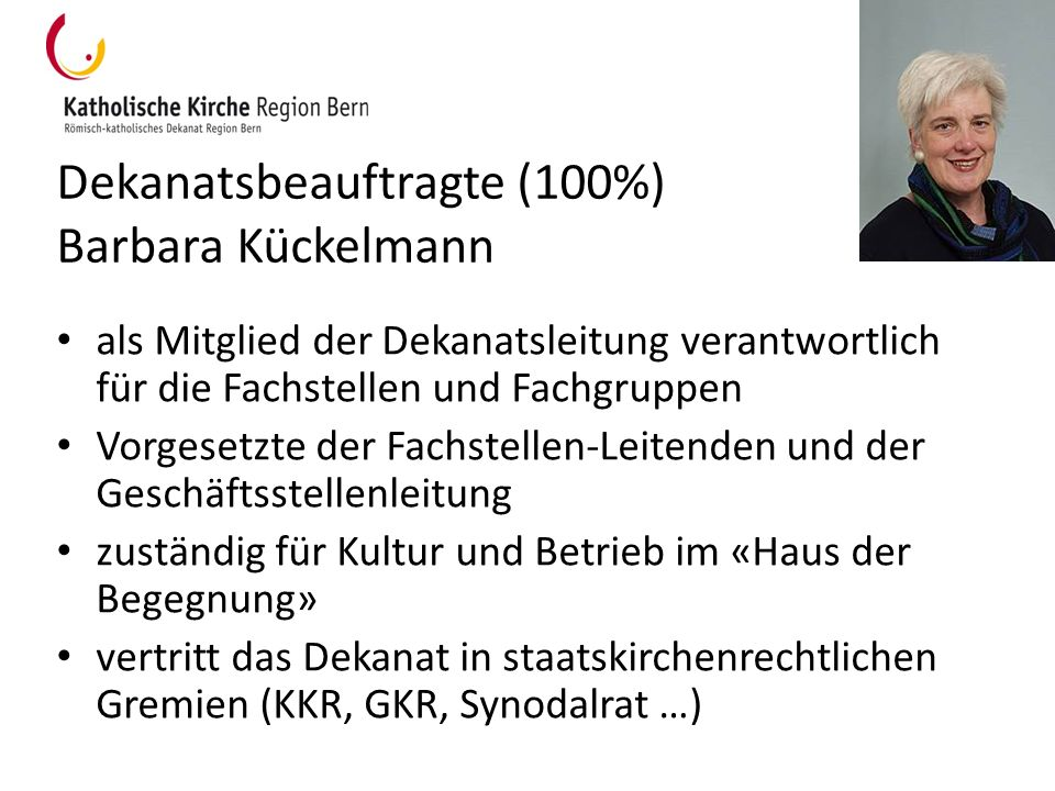 Dekanatsbeauftragte (100%) Barbara Kückelmann