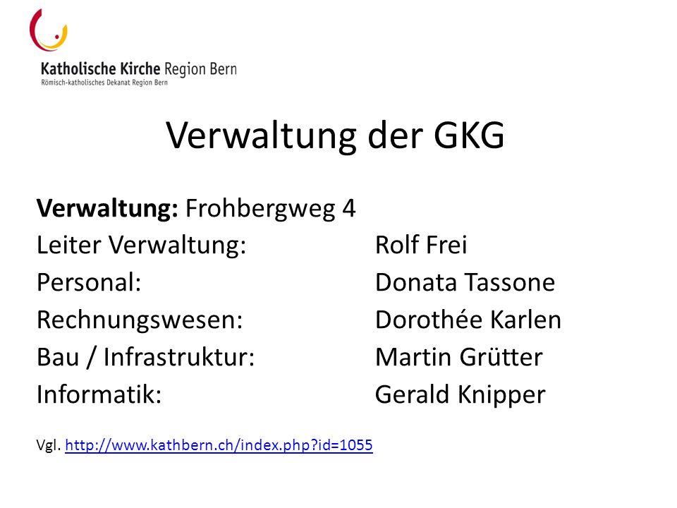 Verwaltung der GKG Verwaltung: Frohbergweg 4