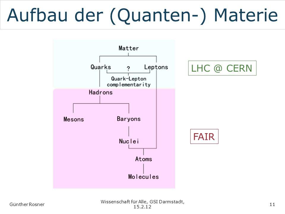 Aufbau der (Quanten-) Materie