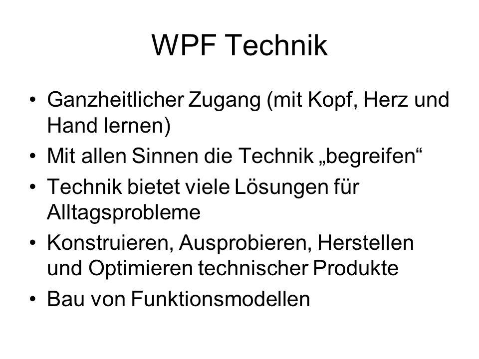 WPF Technik Ganzheitlicher Zugang (mit Kopf, Herz und Hand lernen)
