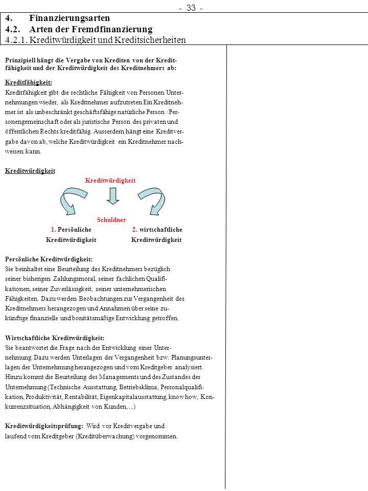 4.2. Arten der Fremdfinanzierung