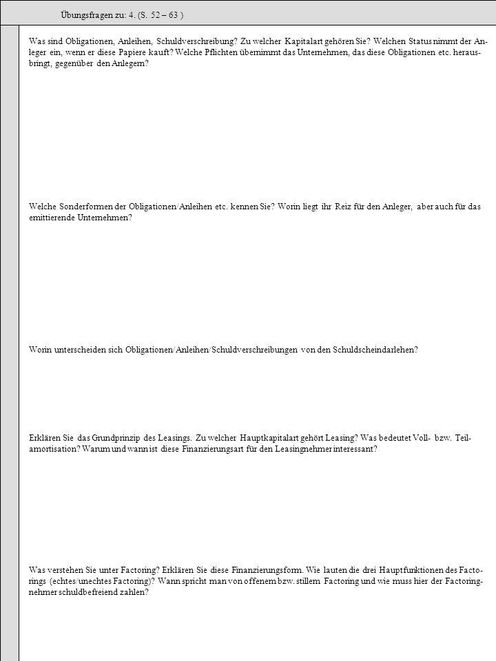 Übungsfragen zu: 4. (S. 52 – 63 )