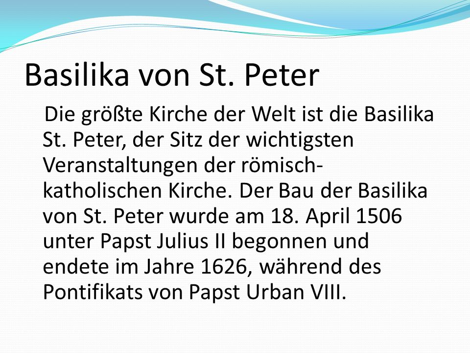 Basilika von St. Peter