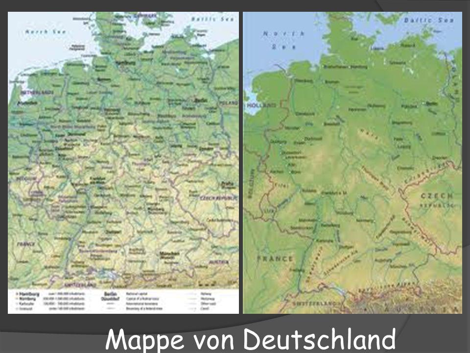 Mappe von Deutschland