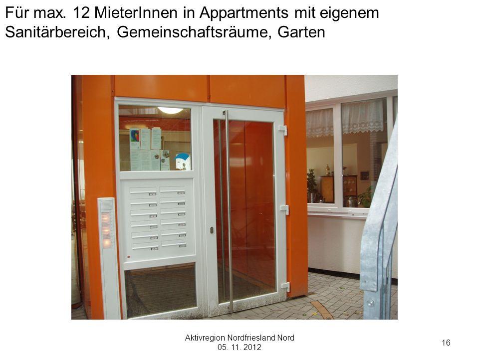 Aktivregion Nordfriesland Nord 05. 11. 2012