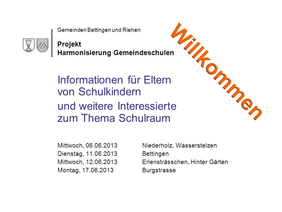 Gemeinden Bettingen und Riehen Projekt Harmonisierung Gemeindeschulen