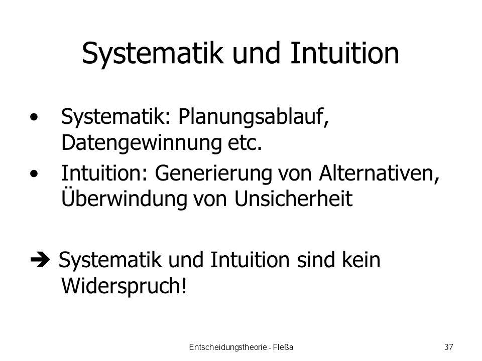 Systematik und Intuition