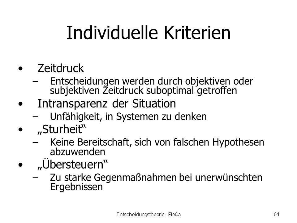 Individuelle Kriterien