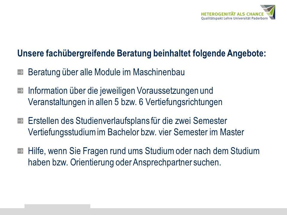 Vertiefungsberatung für Studenten der Fak. MB